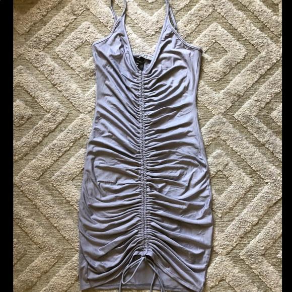 Fashion Nova Dresses & Skirts - Grey Ruched Dress